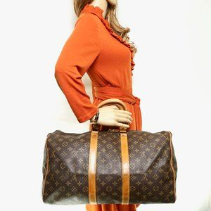 Auth Louis Vuitton Keepal Bandouliere 45 #3862L22